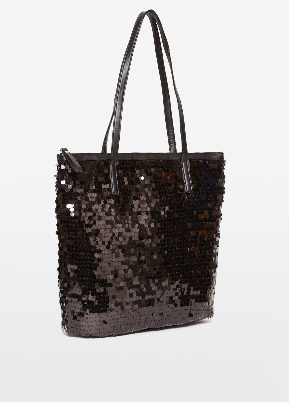 Borsa shopping con paillettes