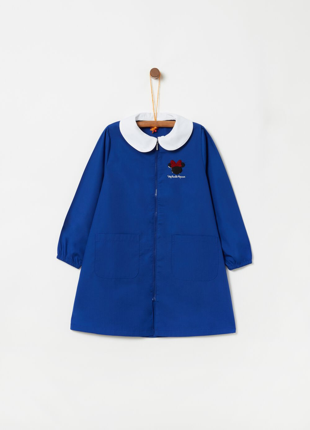 School smock with sequinned Minnie motif