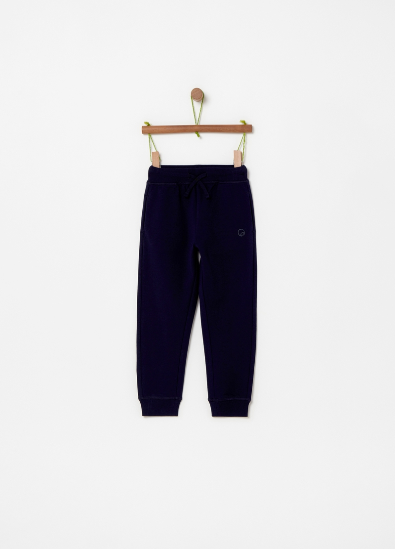Pantaloni jogger in cotone stretch image number null