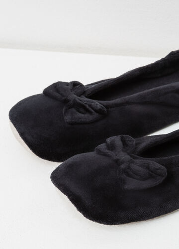 Ballerina flat slippers with bow