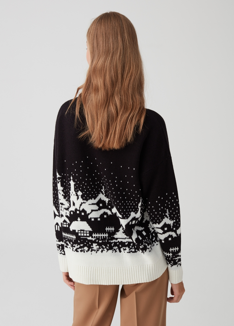 Pullover tricot e jacquard Natale image number null
