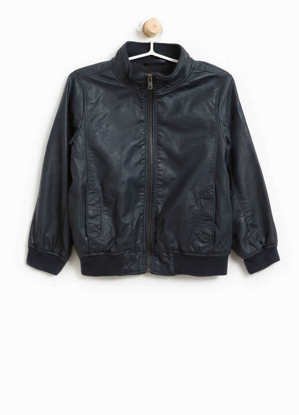 Textured-effect leather-look jacket | OVS