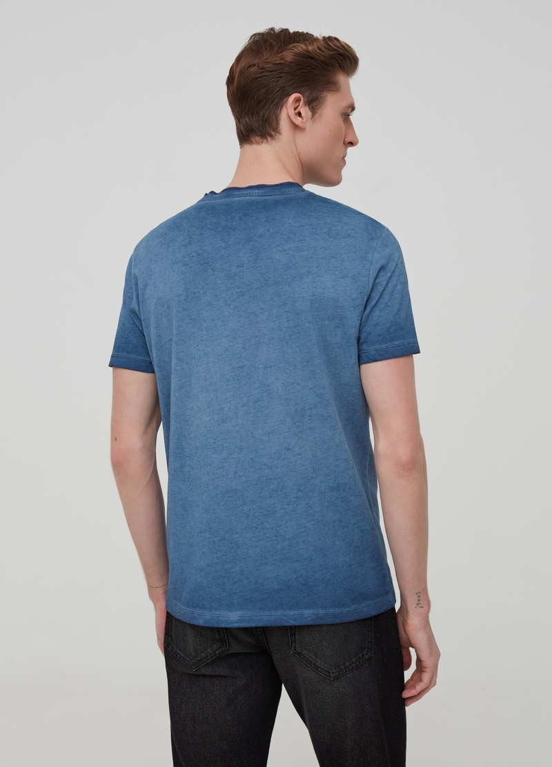 100% cotton misdyed-effect T-shirt image number null
