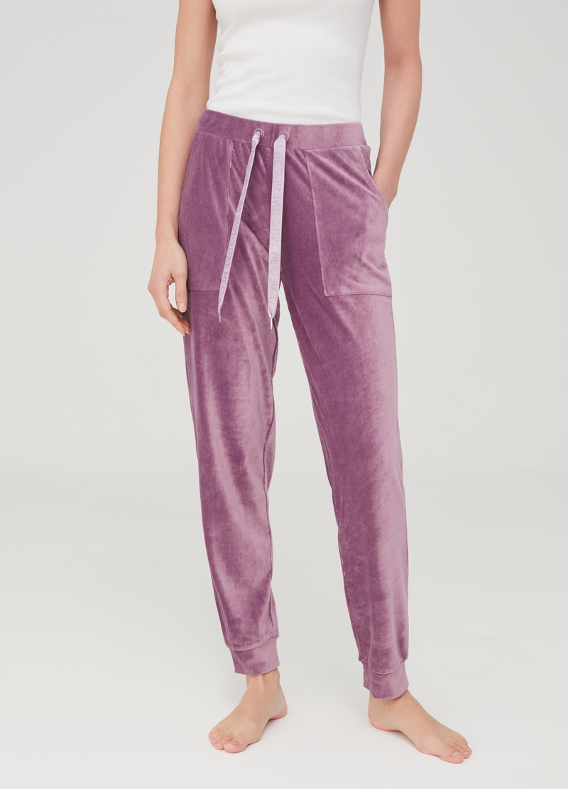 Chenille pyjama trousers image number null