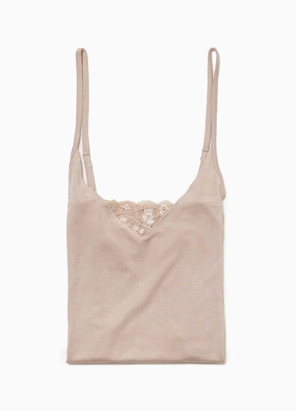 Viscose under top with lace