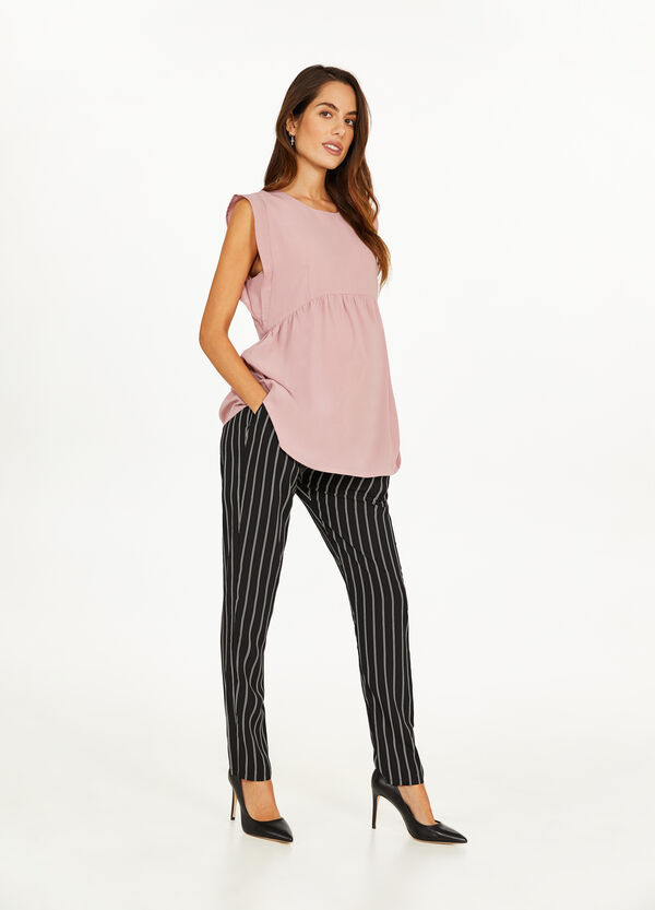 MUM blouse with cap sleeves
