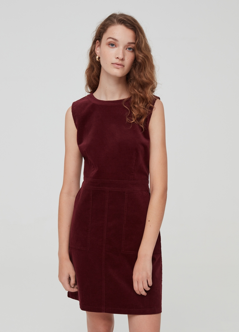 Velvet dress with pockets image number null