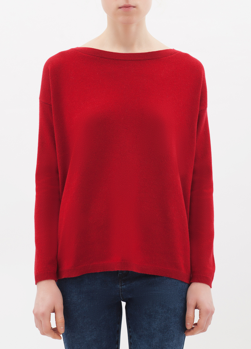 Silk-cashmere blend pullover. image number null