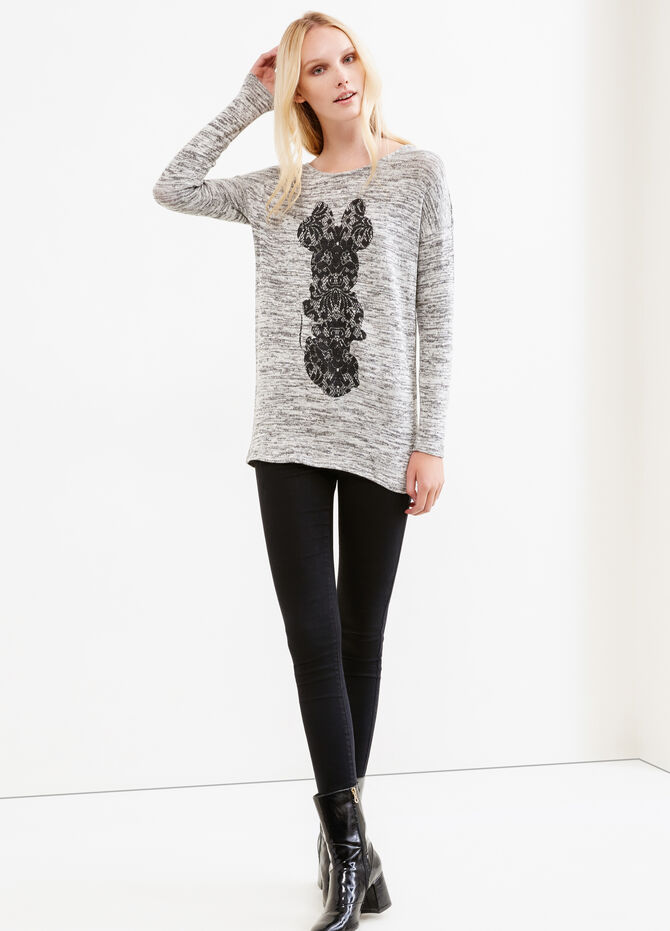 Mélange pullover with Minnie Mouse print