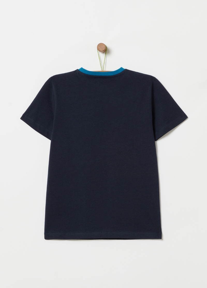 Cotton T-shirt with surfboards print image number null