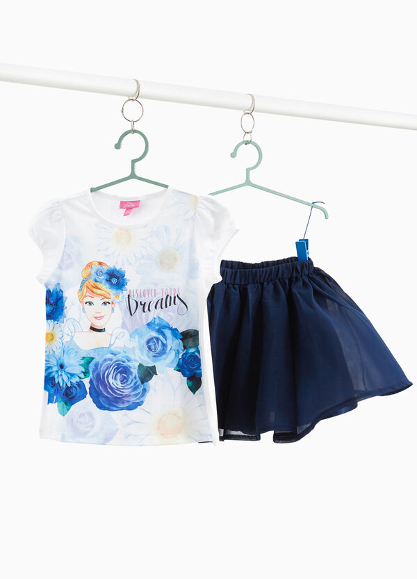Completo t-shirt e gonna Cenerentola