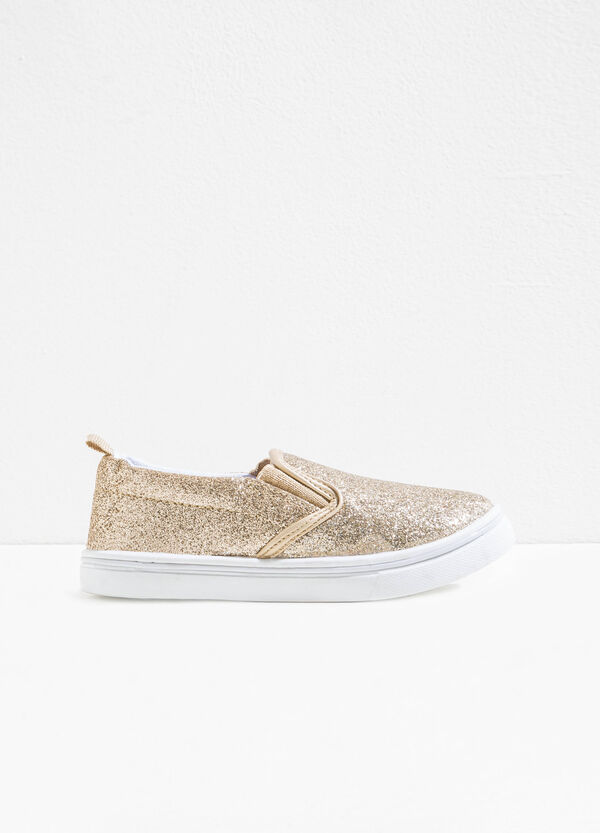 Glitter slip-ons with elasticated bands | OVS