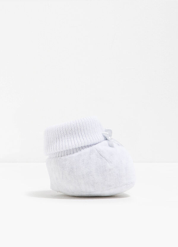 Cotton velour shoes with bow | OVS