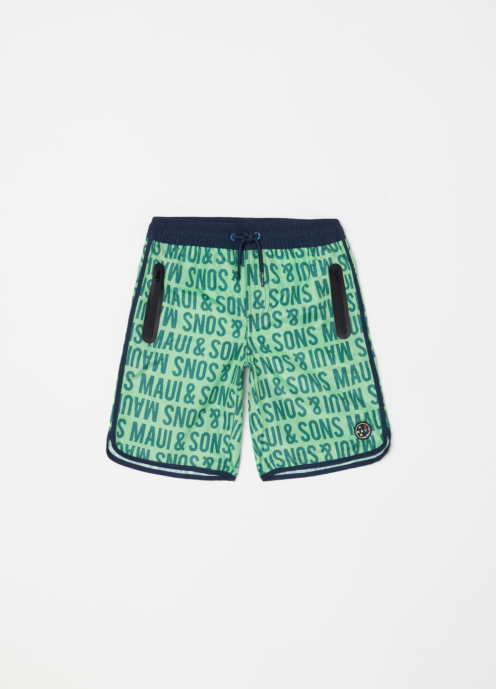 Swim boxer shorts with pockets by Maui and Sons