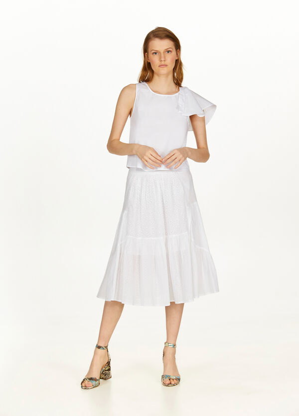 100% cotton top with flounce