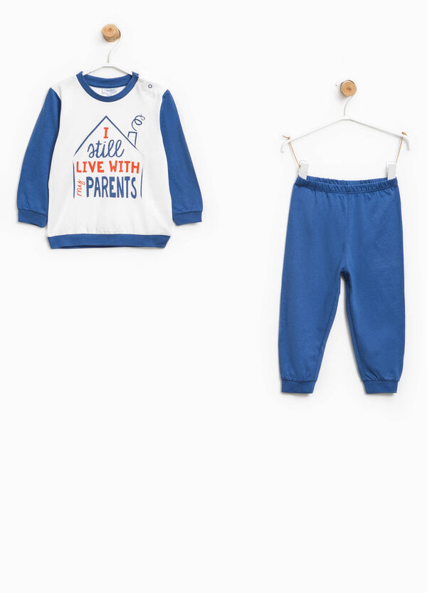 Organic cotton pyjamas with lettering print | OVS
