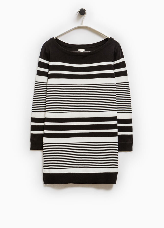 Pullover lungo a righe Smart Basic