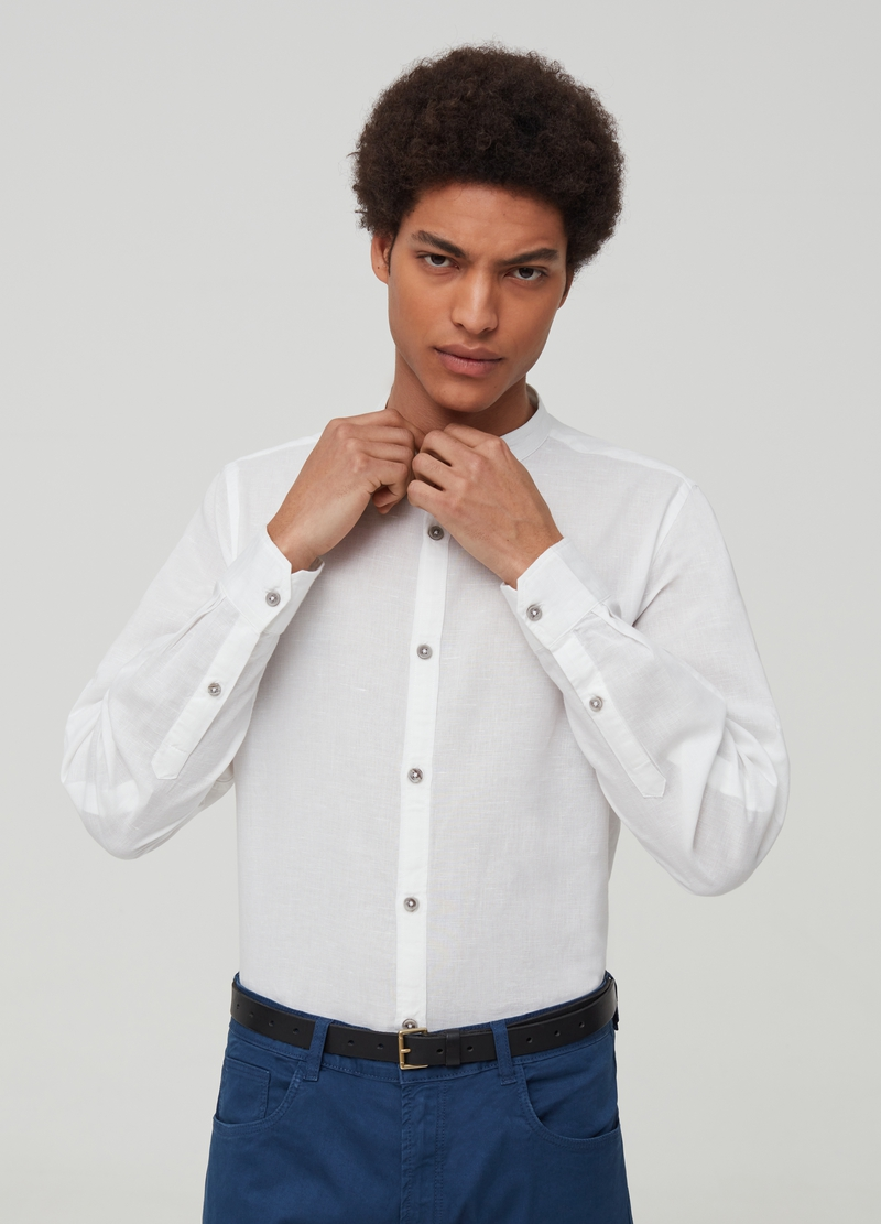 Linen and cotton shirt image number null