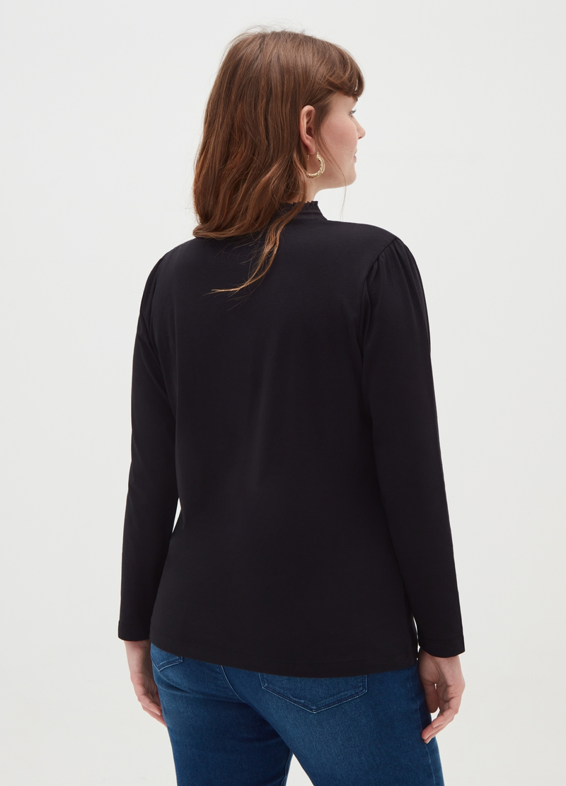 Curvy T-shirt with buttons image number null