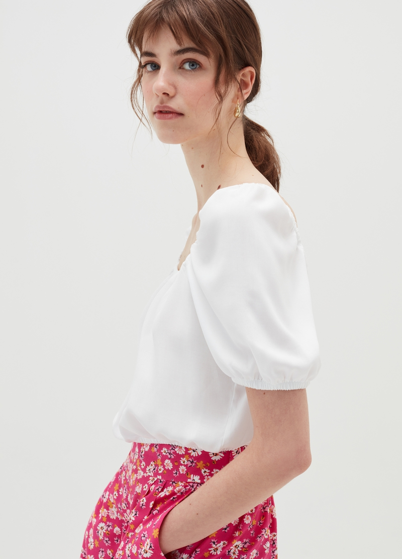 Baby Angel top with puff sleeves image number null