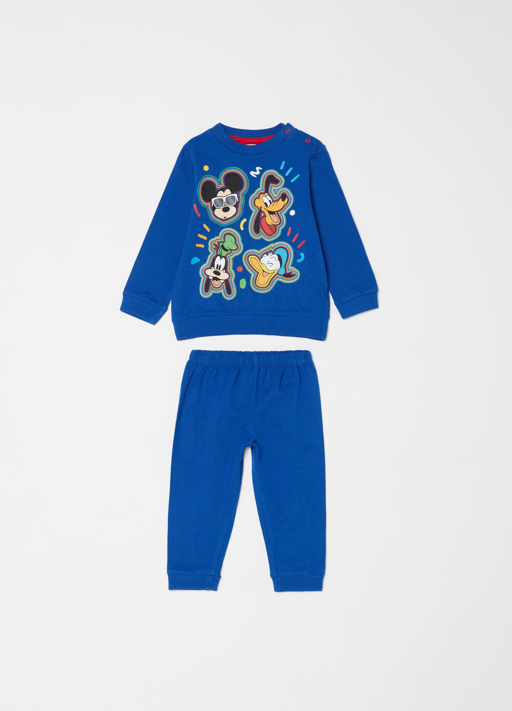 Full-length, 100% cotton pyjamas with cartoons