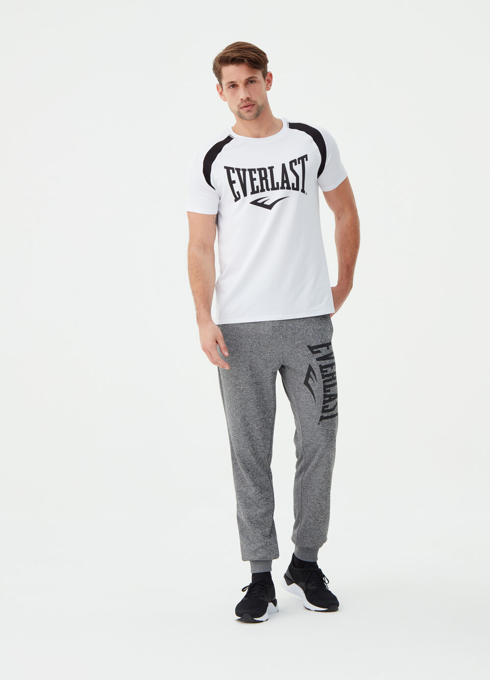Stretch T-shirt with Everlast print