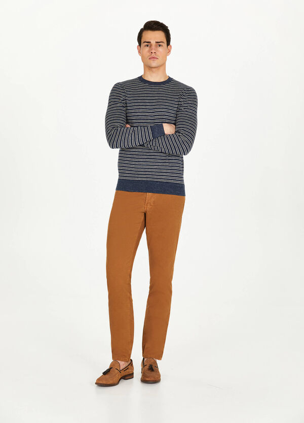 Pantaloni regular fit in puro cotone