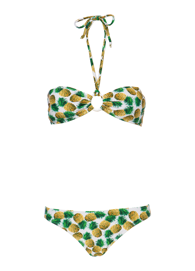 Patterned stretch bikini image number null