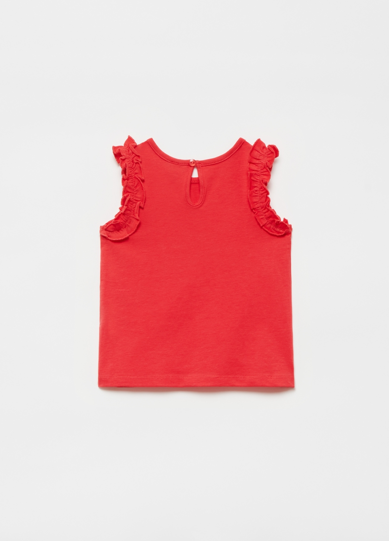 Tank top with frills image number null