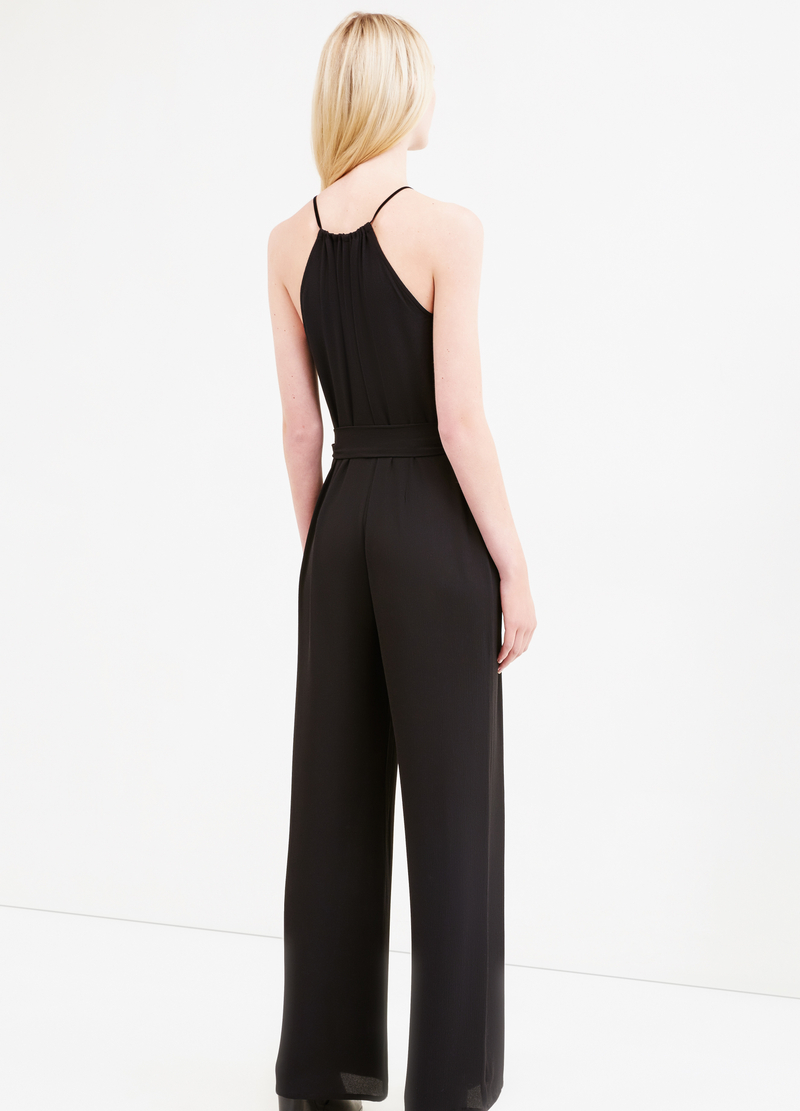 Sleeveless jumpsuit with tie image number null