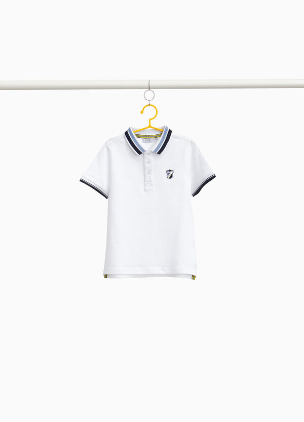 100% cotton polo shirt with patches