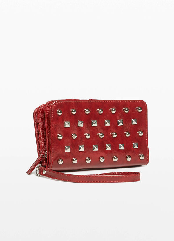 Textured purse with studs