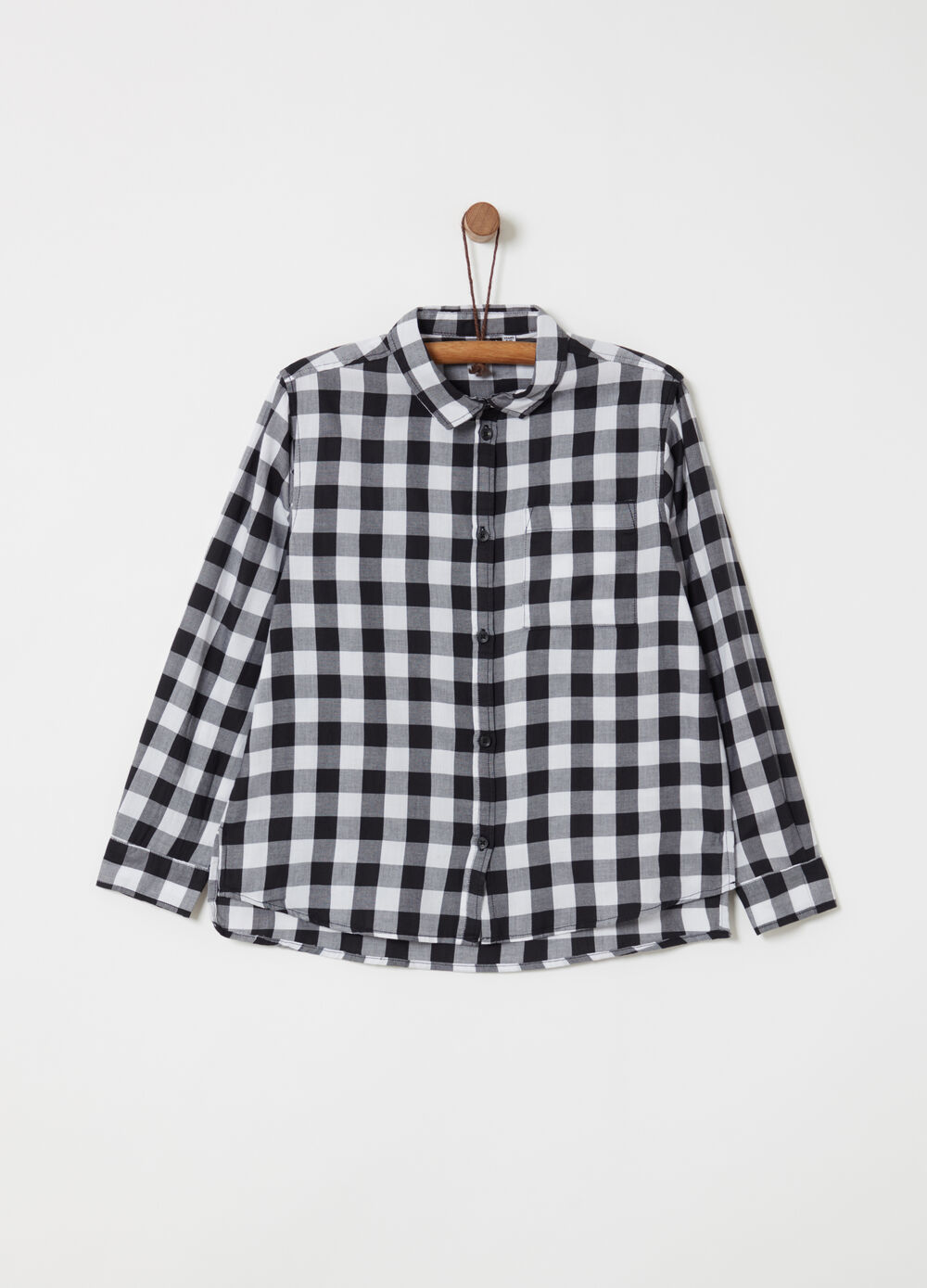 Lightweight check cotton shirt