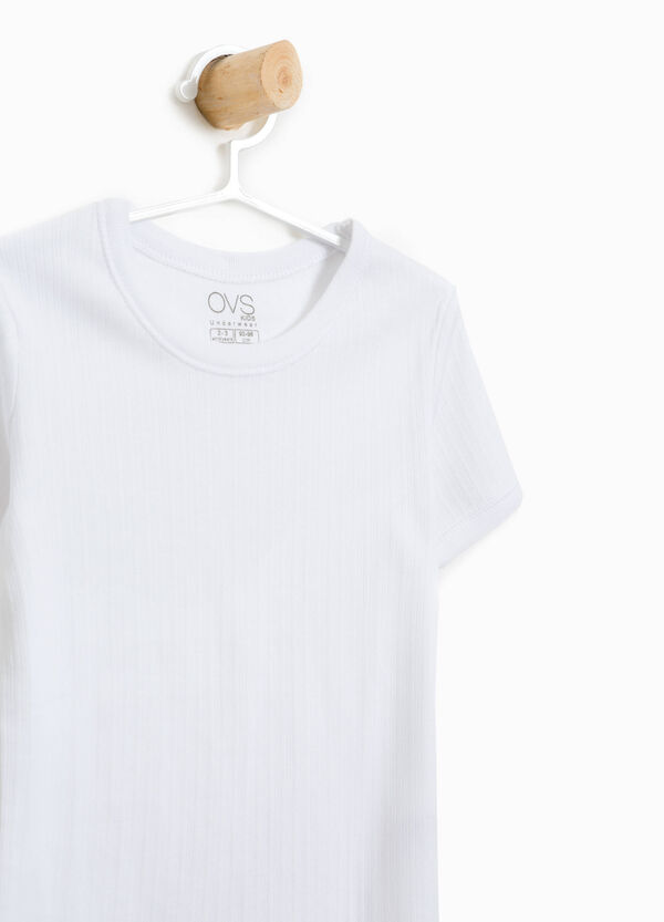 Ribbed undershirt in organic cotton | OVS
