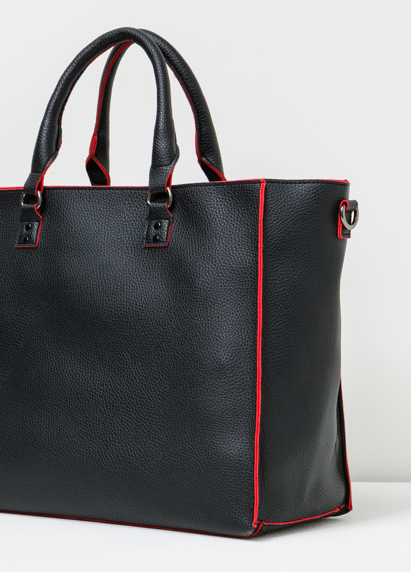 Handbag with contrasting edges image number null