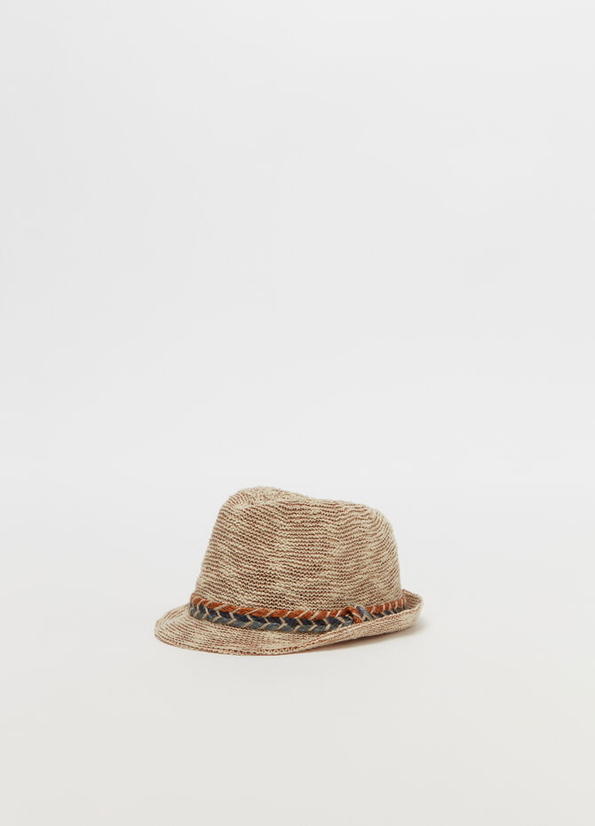 Fedora hat with belt