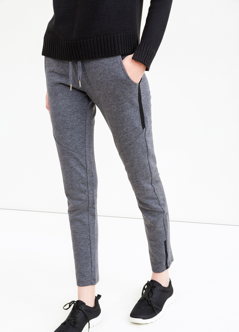 Cotton blend joggers with drawstring image number null