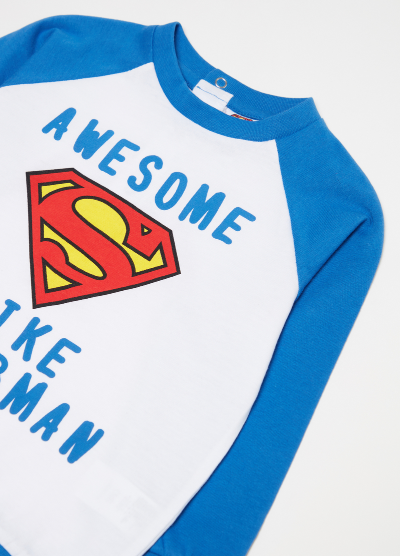 Superman pyjamas with top and trousers image number null