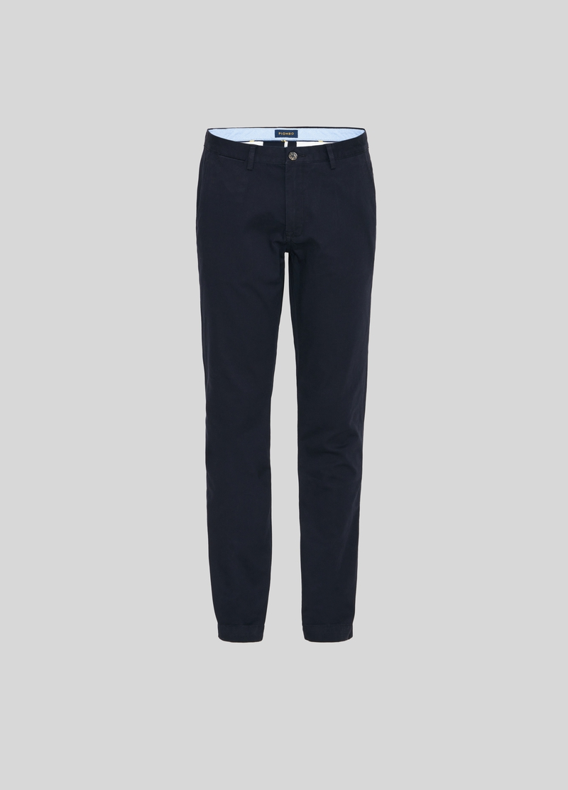 PIOMBO Pantaloni chino in cotone dobby image number null