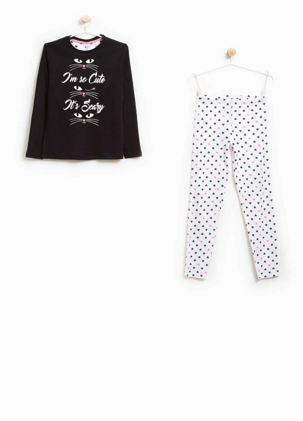 100% cotton hearts pyjamas