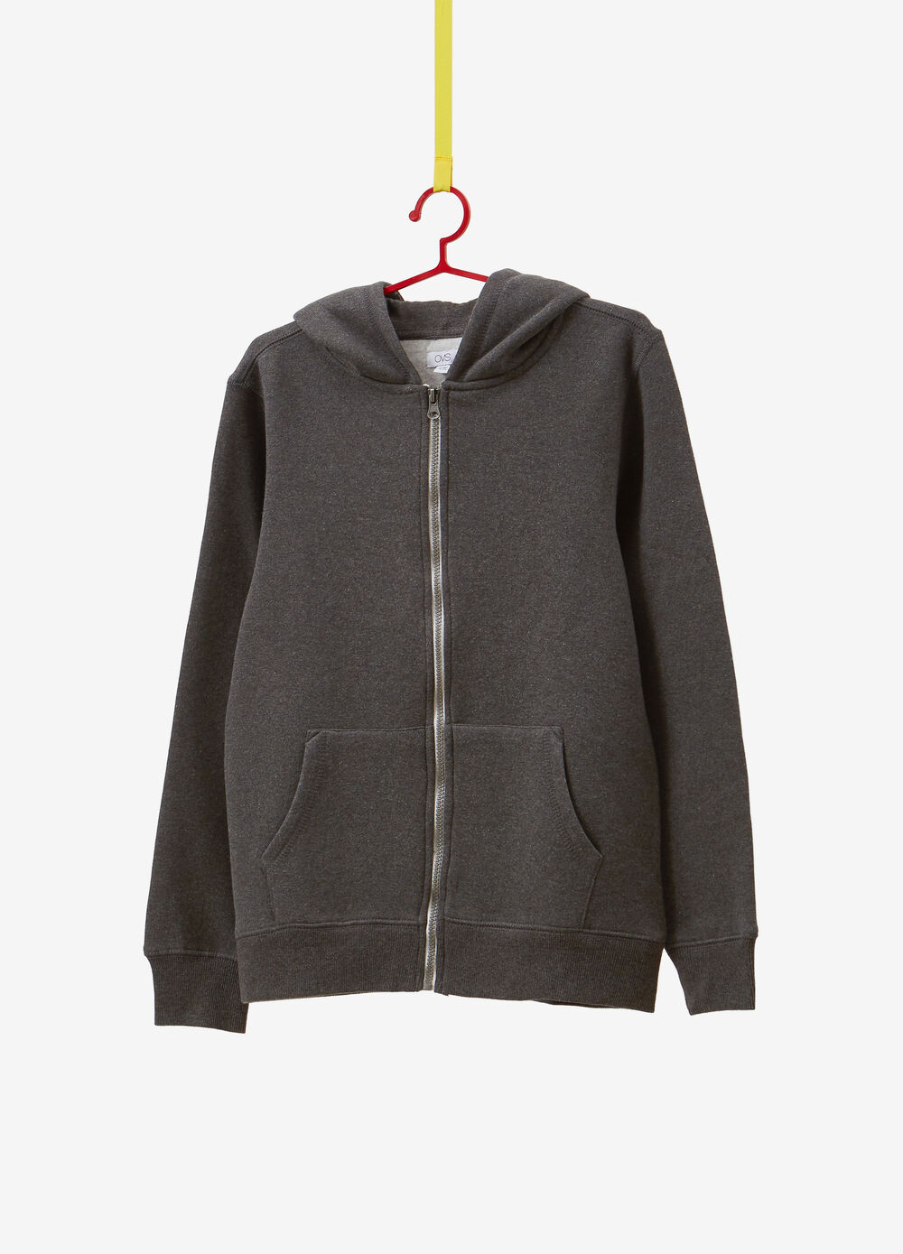 Mélange cotton blend sweatshirt with hood