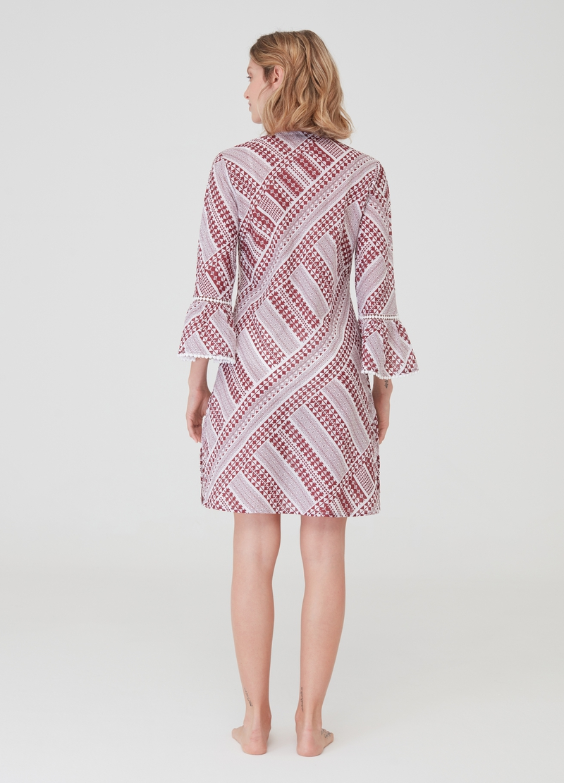 100% cotton beach cover-up with all-over print image number null
