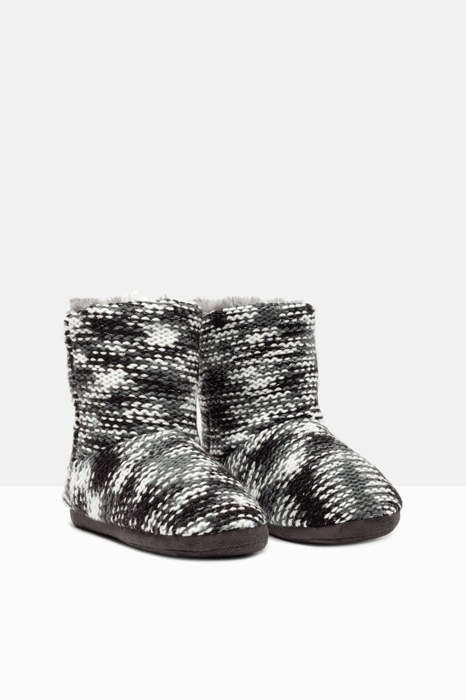 Pantofole stivaletto tricot