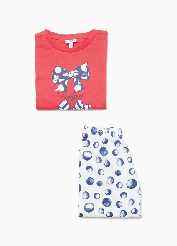 100% cotton pyjamas with bows