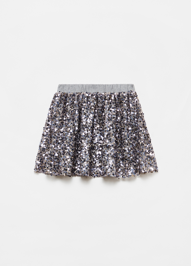 Miniskirt with sequins image number null