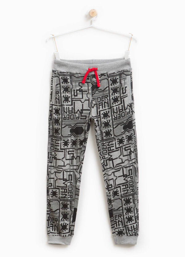 Pantaloni tuta cotone stretch Spiderman