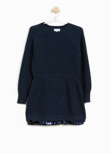 Knit dress with lurex and sequins