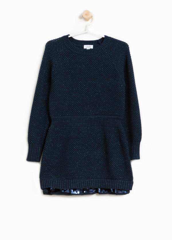 Knit dress with lurex and sequins | OVS