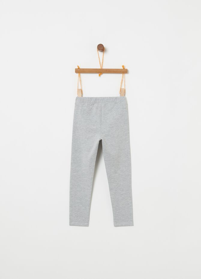 Leggings in French Terry con taschine
