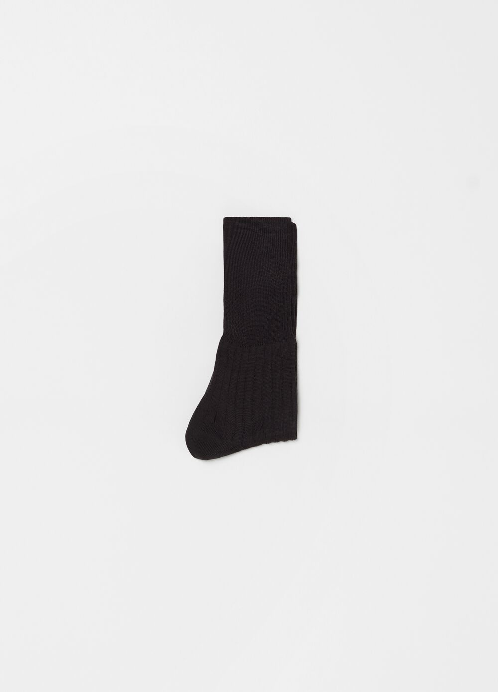 100% cotton ribbed short medical socks